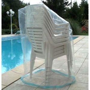 Housse pour chaises de jardin - Housse pour une pile de 6 chaises de ...
