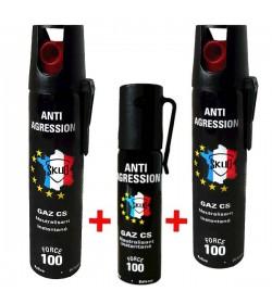Lot GAZ lacrymogène - 3 X bombes lacrymogene