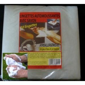Lingettes automoussantes (10 lingettes)