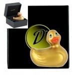 """""""DUCKIE GOLD"""" canard vibrant en coffret"""