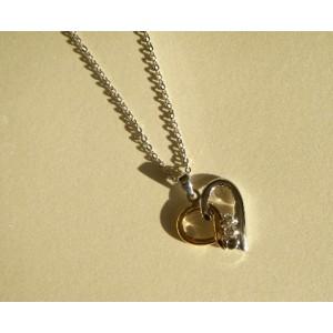 Pendentif coeur incrusté cristal Swarovski