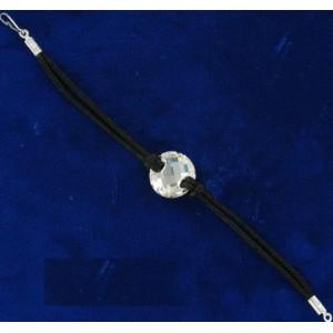 Bracelet cristal Swarovski et cordon