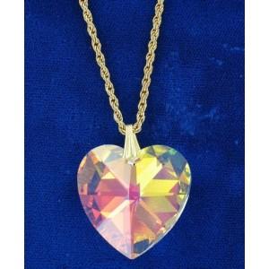 Pendentif coeur cristal Swarovski 28mm