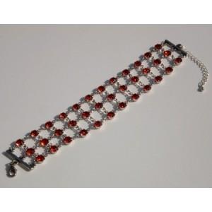 Bracelet 3 rangs cristal Swarovski couleur