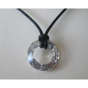 Pendentif anneau cristal Swarovski 20mm