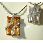 Collier cristal Swarovski ambre ou blanc