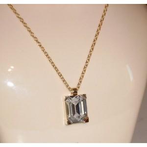 Pendentif or pavé cristal Swarovski