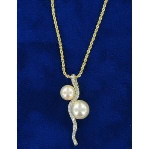 Pendentif perle et cristal Swarovski