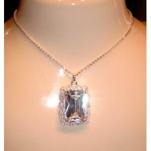 Collier argent massif & cristal Swarovski