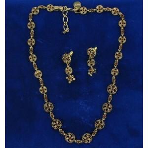 Parure collier or et cristal Swarovski