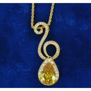 Collier cristal Swarovski et or fin