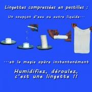 lingettes rince-doigts & hygiène du corps Mini COIN TISSU