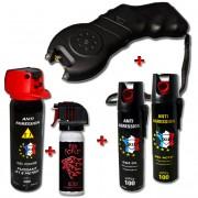 Pack défense : taser alarme personnelle et bombe lacrymogene
