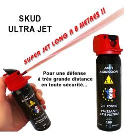 Bombe lacrymogene SUPER JET LONG 8 METRES - 100 mL Gel Poivre