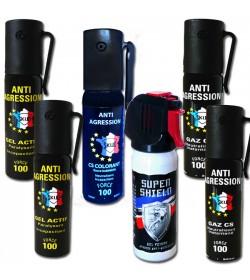 LOT TOUT LACRYMO DE POCHE : 6 bombes gaz-gel-poivre