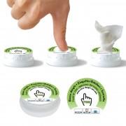 Push Clean : lingette rince-doigts magique Coin Tissu ® prêt à l'emploi !