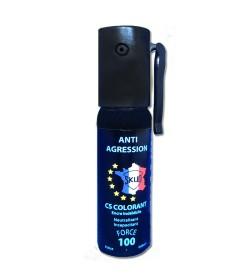 Bombe lacrymogene CLORANT BLEU gaz CS